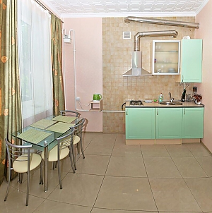 Apartment with kitchen mint color and pleasant atmosphere, Un chambre, 003