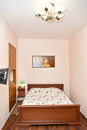 Apartment with kitchen mint color and pleasant atmosphere, Un chambre, 004