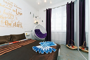 Art-house Loft and bed on chains, Zweizimmerwohnung, 003