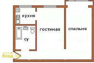 Квартира біля метро Олімпійська, 2-кімнатна, 006