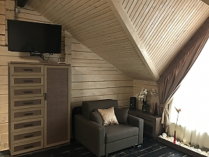 New wooden house from the сarpathian fir  , Studio, 002