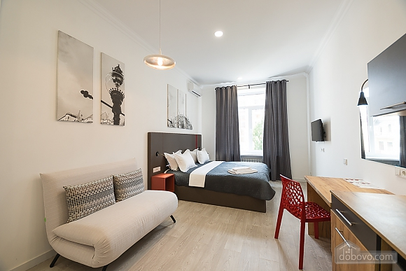 Light studio street view apartment with shower and sofa bed, Studio (48654), 003