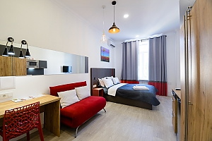 Stylish studio street view apartment with shower and sofa bed, Monolocale, 001