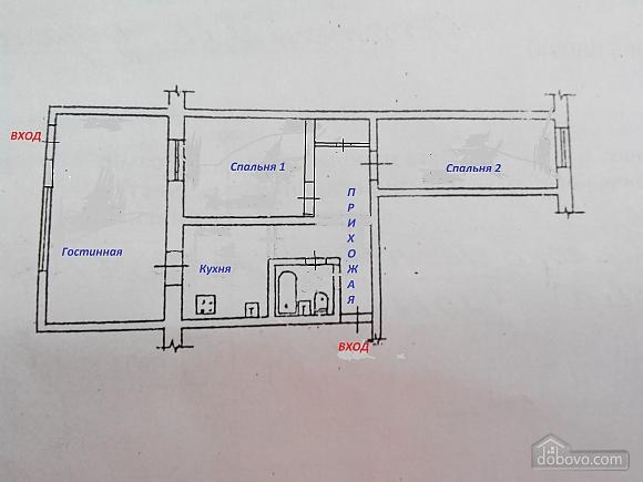 Квартира поряд з Аркадією, 3-кімнатна (68732), 015
