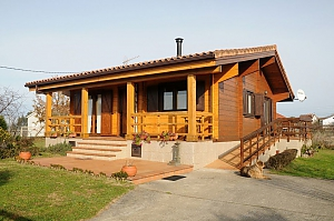 Charming family friendly log cabin near the beach, Deux chambres, 001