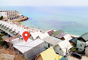 Two-storeyed house 40 steps from the sea, One Bedroom, 019