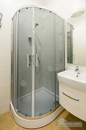 Modern street view studio apartment with shower, Studio (82263), 008