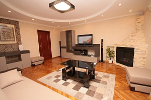 Apartment with a fireplace, One Bedroom, 001