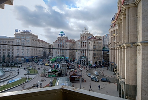 Apartment near Maidan with a balcony and a beautiful city view, Monolocale, 007