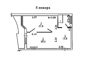 Purple apartment in the heart of Odessa, 2-кімнатна, 014