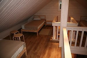 Cottage in a bay of Lake Onega near the spruce forest, Three Bedroom, 001