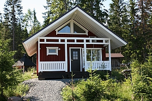 Cottage in a bay of Lake Onega near the spruce forest, Three Bedroom, 002