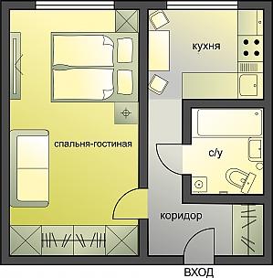 Excellent business class apartment, Monolocale, 002