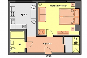 Compact business-class apartment, Studio, 002