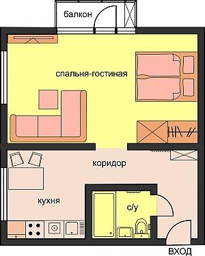 Comfort standard-class apartment, Studio, 003