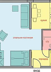 Comfortable premium-class apartment, Studio, 003
