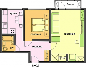 Comfortable business class apartment, One Bedroom, 004