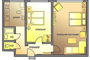 Excellent business class apartment on Berezhkovskaya nabarezhnaya, One Bedroom, 003