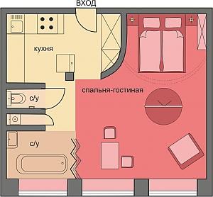 Luxury apartment with premium design renovation, Studio, 002