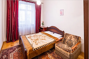 Cozy one bedroom apartment in the center near Franka park not far from Lviv palace of arts, Una Camera, 002