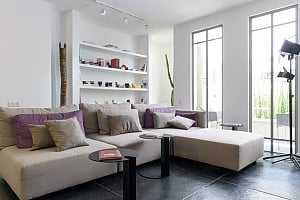 Apartment with patio in Neve Tzedek, Trois chambres, 001