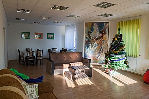 Double room in the hostel with a gazebo at the entrance to Lviv, Monolocale, 004