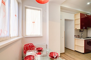 Apartment in red colors, One Bedroom, 017