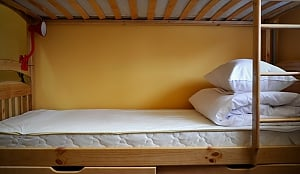 Sleeping place on bunk bed in the room for women, Studio, 001