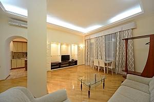 Потрясающие комфортные просторные апартаменты в центре города, 2х-комнатная, 002