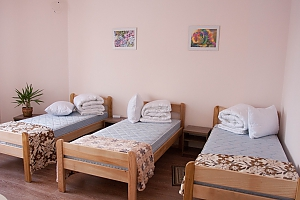 Bed in dormitory room 7 at the hostel, One Bedroom, 001