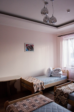 Bed in dormitory room 7 at the hostel, One Bedroom, 004
