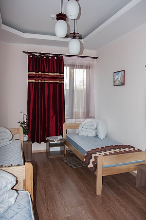 Bed in dormitory room 7 at the hostel, One Bedroom, 003