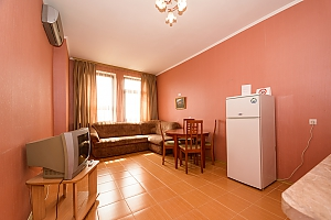 Comfortable spacious one-bedroom apartment with kitchen and bathtub, Un chambre, 004