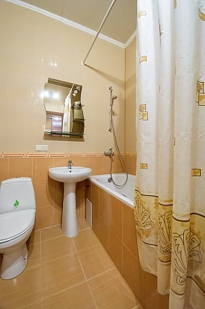 Comfortable spacious one-bedroom apartment with kitchen and bathtub, Un chambre, 009