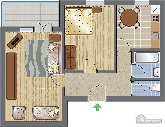 Квартира біля метро Дарниця, 2-кімнатна (96188), 011