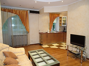 Comfortable apartment on Triokhsviatytelska, Un chambre, 002