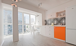 Fashion panoramic view one-bedroom jacuzzi apartment, Zweizimmerwohnung, 002