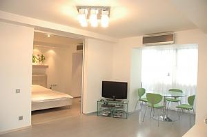 Сімейні апартаменти з однією спальнею, гідромасажною ванною, кухнею та диваном-ліжком, 2-кімнатна, 002