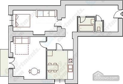 Квартира в центрі, 2-кімнатна (62653), 011