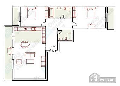 Світлі ірландські апартаменти, 3-кімнатна (19269), 005