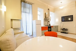 Spaсious studio apartment with balcony and kitchen, Studio, 012