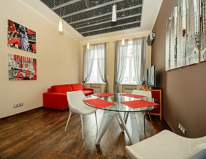 Stylish one-bedroom apartment with large shower and kitchen, Un chambre, 004