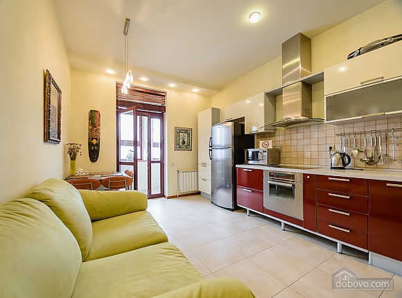 Two-bedroom apartment with two bathrooms and kitchen, Two Bedroom (84143), 006