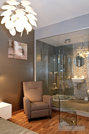 Connected apartments with a glass wall in bathroom in the center of the city, Two Bedroom (58417), 009