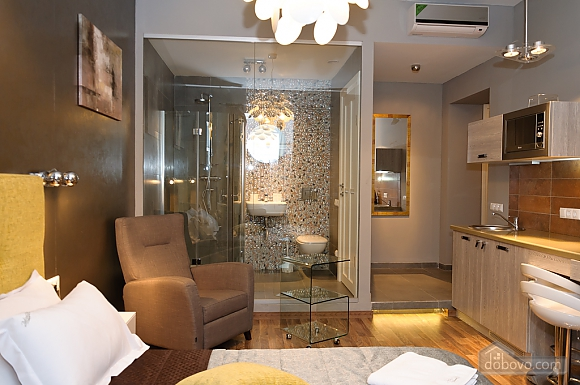 Connected apartments with a glass wall in bathroom in the center of the city, Two Bedroom (58417), 012