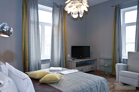 Connected apartments with a glass wall in bathroom in the center of the city, Two Bedroom (58417), 015