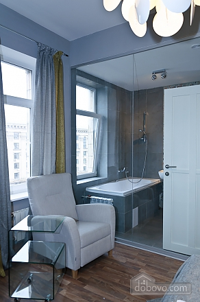 Connected apartments with a glass wall in bathroom in the center of the city, Two Bedroom (58417), 016