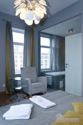 Connected apartments with a glass wall in bathroom in the center of the city, Two Bedroom (58417), 017