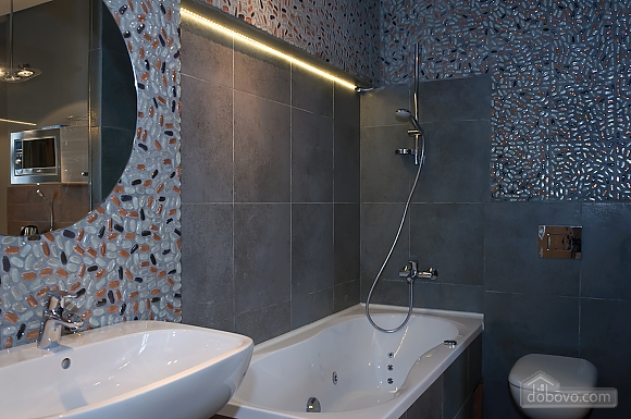Connected apartments with a glass wall in bathroom in the center of the city, Two Bedroom (58417), 034